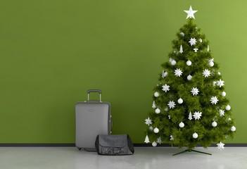 Weihnachtsferien und Baum
