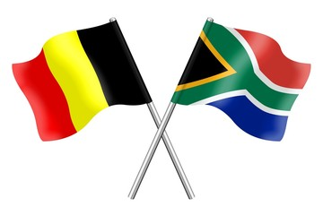Flags: Belgium and South Africa