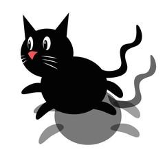 Schwarze Katze als Vektorgrafik