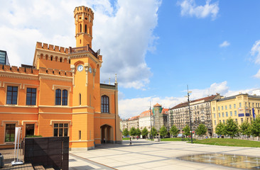 Restored Main railway station in Wroclaw, Poland