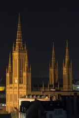 market church wiesbaden at night