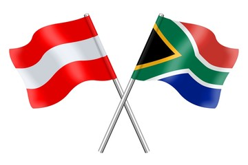 Flags: Austria and South Africa