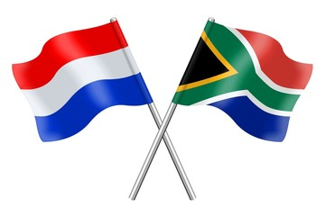Flags: Netherlands and South Africa