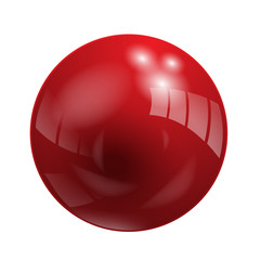 Shiny Red Vector Ball (button icon symbol)