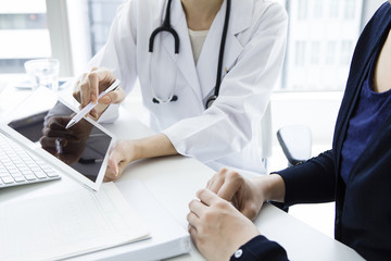 Physician will be described using tablet-type device