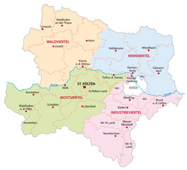 lower austria region map
