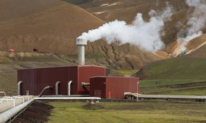 Geothermal Power Energy Station in Iceland