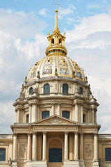 Les Invalides cathedral dome in Paris