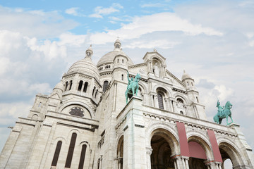 Sacre Coeur basilica on Montmartre in Paris