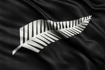 Newly proposed silver fern flag for New Zealand