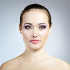 Beautiful girl. Natural beauty portrait. Studio shot of attracti
