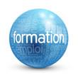 """Globe - Nuage de Tags """"FORMATION"""" (études diplômes expérience)"""