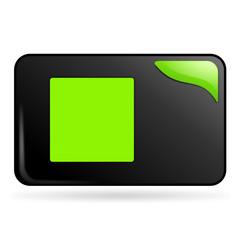 carré sur bouton web rectangle vert