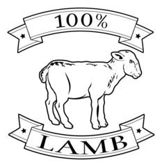 100 percent lamb food label
