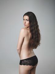 Beautiful topless female model