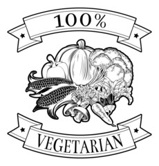 100 percent vegetarian label