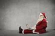 Santa Claus uses technology