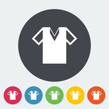 T-shirt single icon.