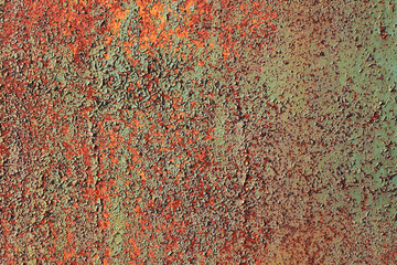 Grunge texture of old rusty metal with scratches and cracks