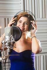 Beautiful smiling singer