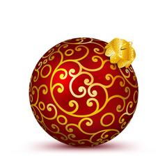 Christbaumkugel, Weihnachtskugel, Kugel, Weihnachten, 3D, rot