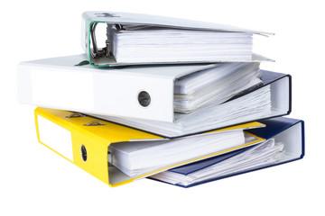 folders in the pile