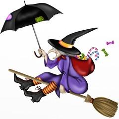 befana con ombrello