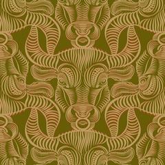 Repaint seamless pattern: Taurus