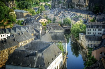 Alzette Tal - Luxemburg, Europa