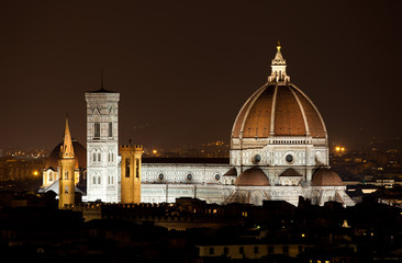 Santa Maria del Fiore, the Florence Duomo by night
