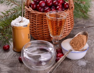 ingredients for cranberry sauce organic wild cranberries in