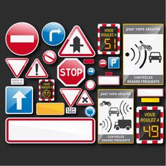 collection panneau signalisation