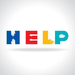 helping hands, vector illustration