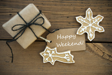 White Happy Weekend with Christmas Decoration
