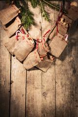 advent calendar with little sacks