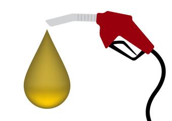Green Fuel nozzle with drop