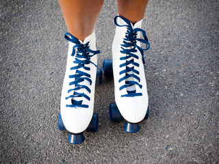 Sporting rollers skating