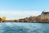 embankment of Seine river, Paris, France
