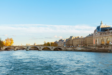 embankment of Seine river, Paris, France
