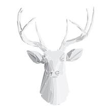 Deer head on white background 2