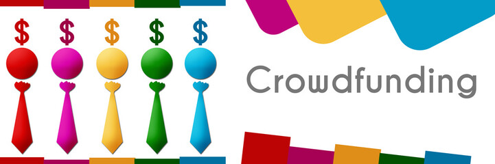 Crowdfunding  Human Colorful Row