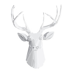 Deer head on white background 2