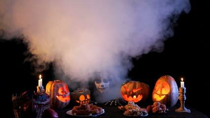 Jack O'lantern Among Pumpkins