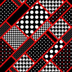 retro rectangles in polka dot