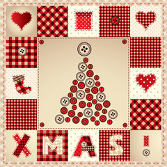 "card ""Merry Christmas"" with Christmas tree"
