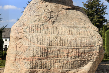 Runenstein von Jelling - Dänemark