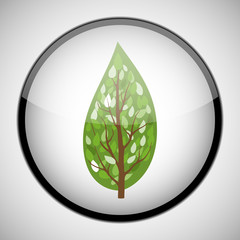 Tree in circle frame. Icon concept