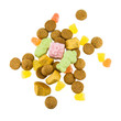Pepernoten and sweets isolated on white