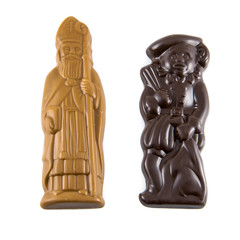 Sint and Piet made of chocolate