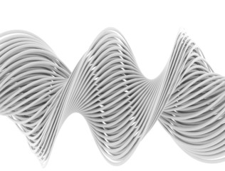 Abstract 3d white lines
